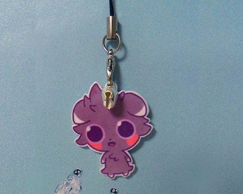 Pokemon  Espurr Phone Charm by Tricotia on Etsy