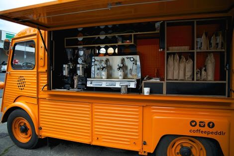 Mobile coffee in a Citroen HY - Melbourne