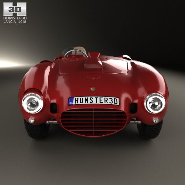 Lancia D24 Pininfarina Spider Sport 1953 3d Model Vintage Cars