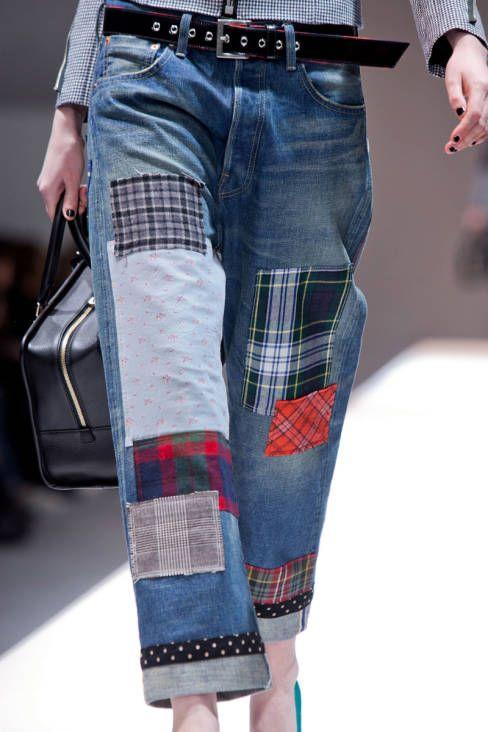 Junya Watanabe Blue Patchwork Jeans | Пэчворк