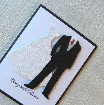 Homemade cards for weddings.. love!