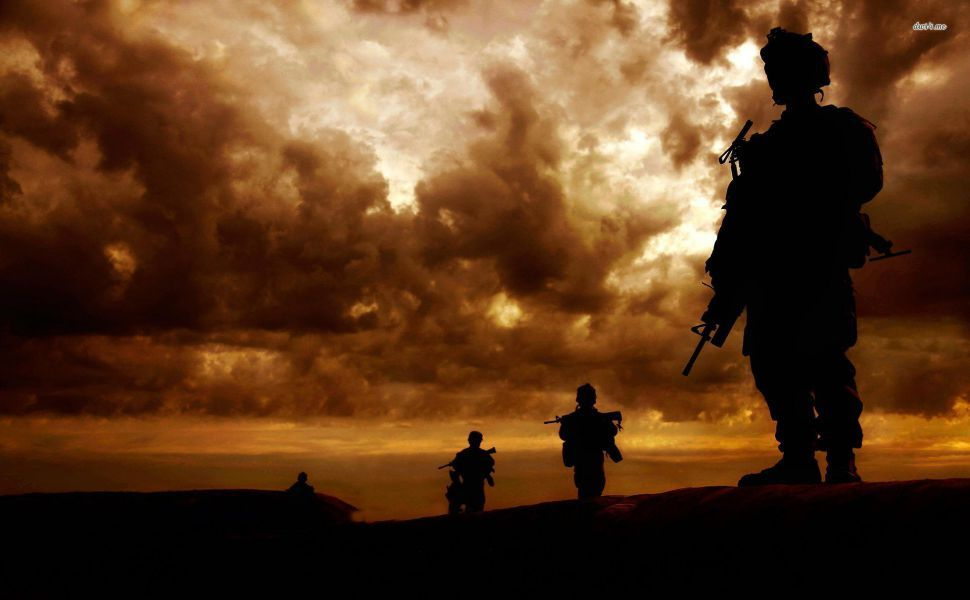 Soldier Silhouettes Hd Wallpaper Wallpapers