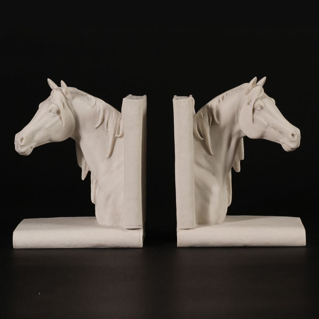 Horse head marble book ends sculptures horse head horse