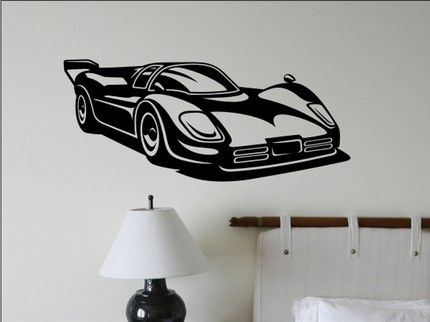 Racing Car Wall Decal Ideas For The Kids Pinterest Wall - Wall decals carsracing car wall decal ideas for the kids pinterest wall