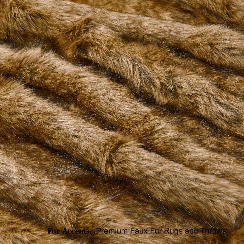 Plush Faux Fur Bedspread Golden Brown Wolf Coyote Design  Etsy Source by bmic19 brown