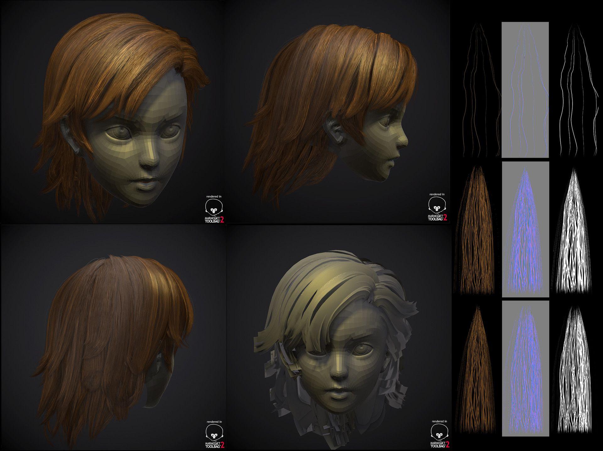 Hair Style 3d Image: GMH2.6 Hair Script Demo