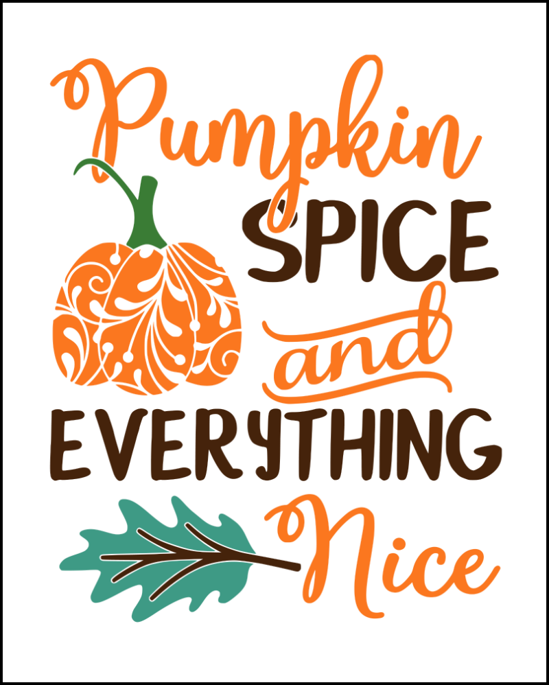 photo relating to Printable Fall Decorations identified as Drop Prices No cost Printables For Autumn cricut Year