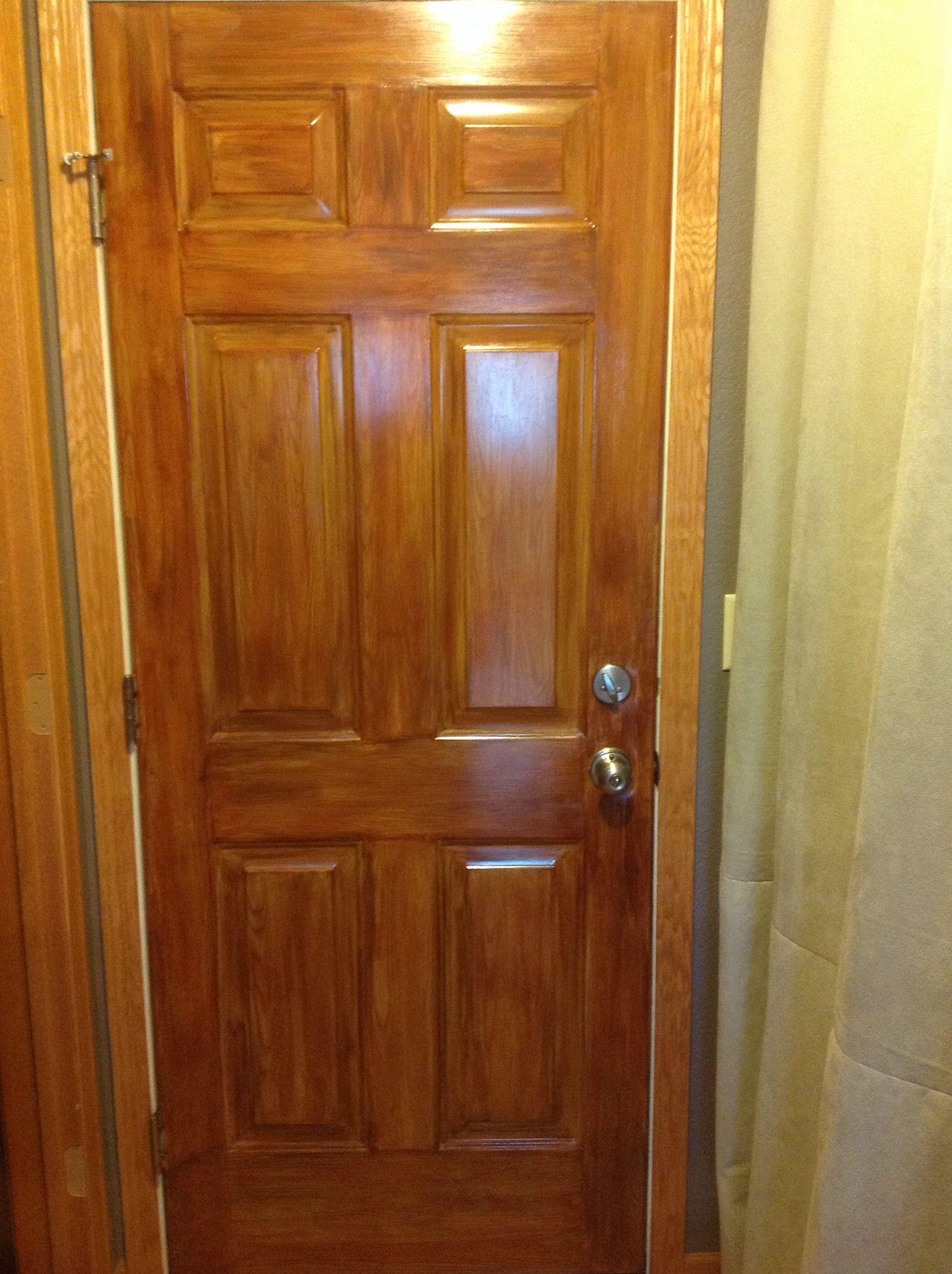 Wood grain finish on metal door. & Wood grain finish on metal door. | New house | Pinterest | Wood ... Pezcame.Com