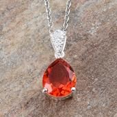 Perk up your day with this sunfire quartz pendant with 20-inch stainless steel chain. Crafted in sterling silver, the piece will win you instant attention wherever you go.  Free Shipping ​