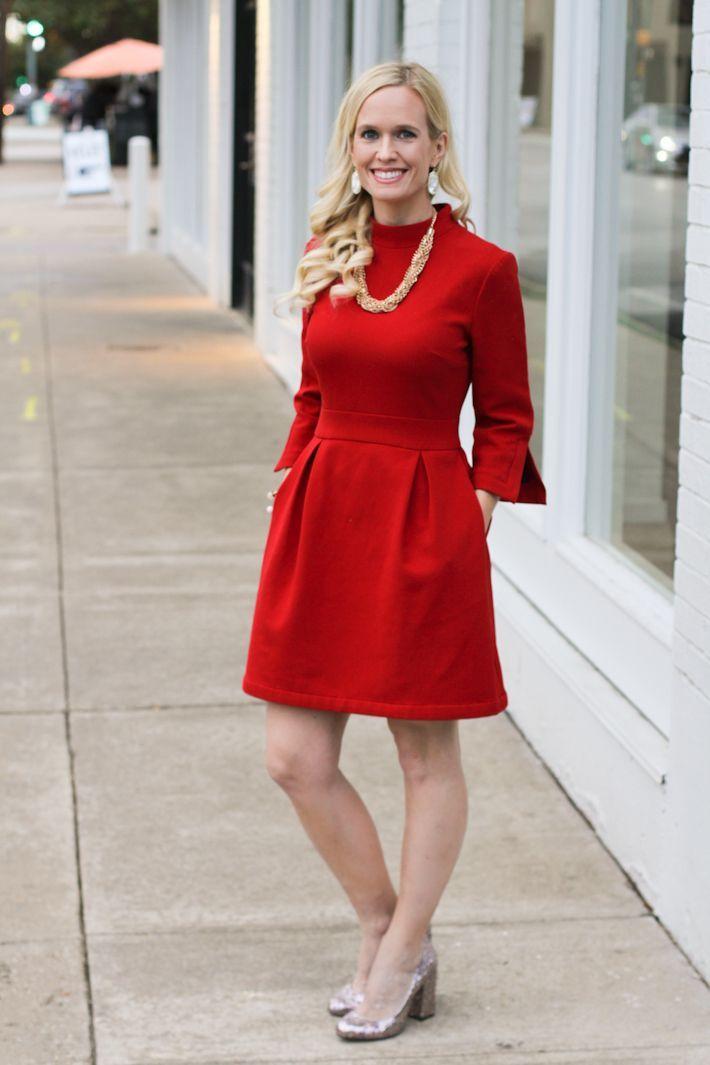 für großmutter | rotes weihnachtskleid, urlaubsoutfits