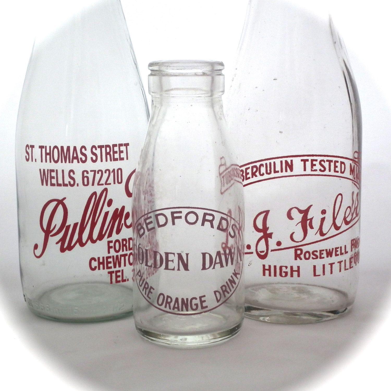 Vintage Milk Bottles Advertising Milk Bottle By Twotimevintage Vintage Milk Bottles Old Milk Bottles Bottle