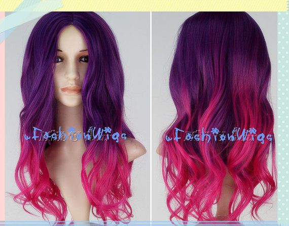 Pink And Purple Hair Styles: Name: Purple To Hot Pink Ombre Cosplay Wig, Long Ombre