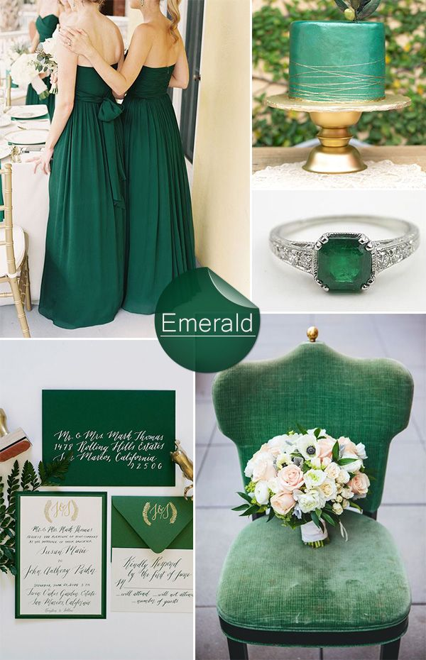 Shades Of Green Wedding Color Ideas And Invitations