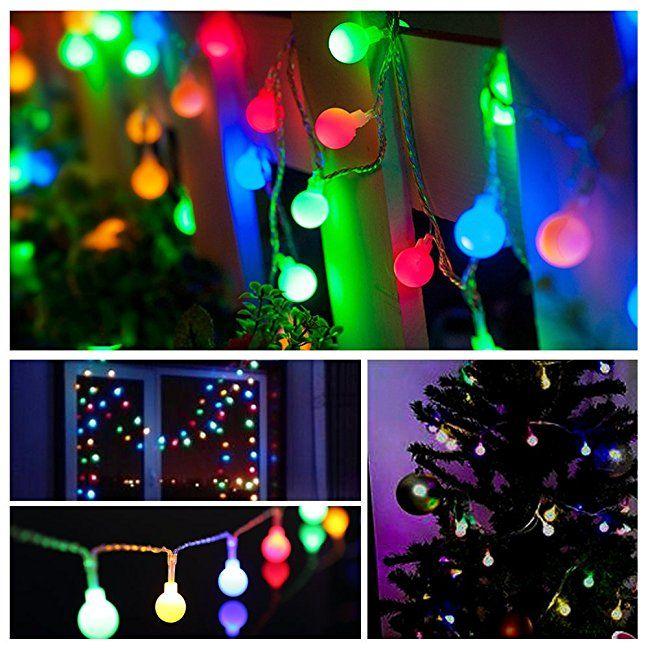 ProGreen Outdoor String Lights, 187ft 40 LED Waterproof Ball Lights