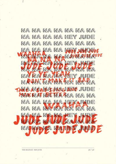Hey Jude em Cartazes Tipográficos