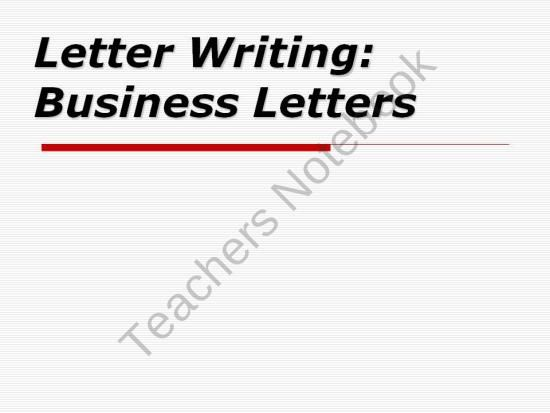 Letter Writing: Business Letters product from deannedavis