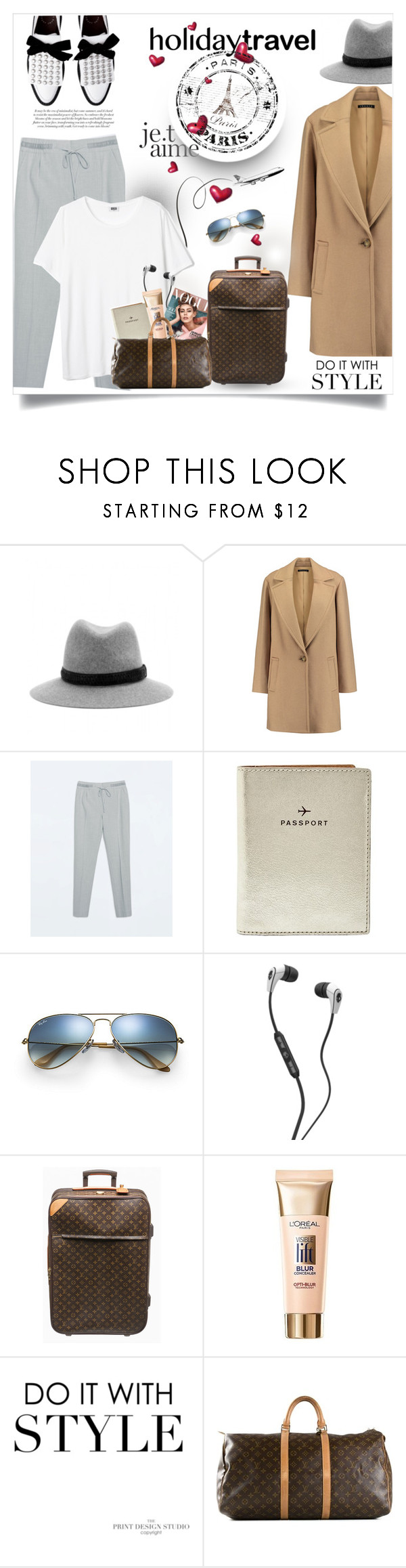 """""""Holiday Travel"""" by monica-dick ❤ liked on Polyvore featuring rag & bone, Theory, Zara, FOSSIL, Skullcandy, Louis Vuitton, L'Oréal Paris and travelinstyle"""
