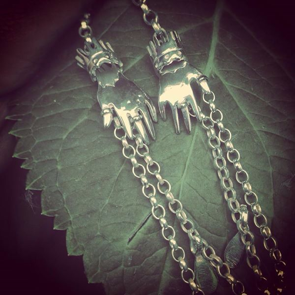 Hand necklace made by me.