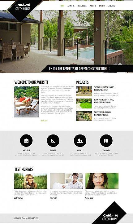 Template 48866 - Green House Moto CMS HTML Template