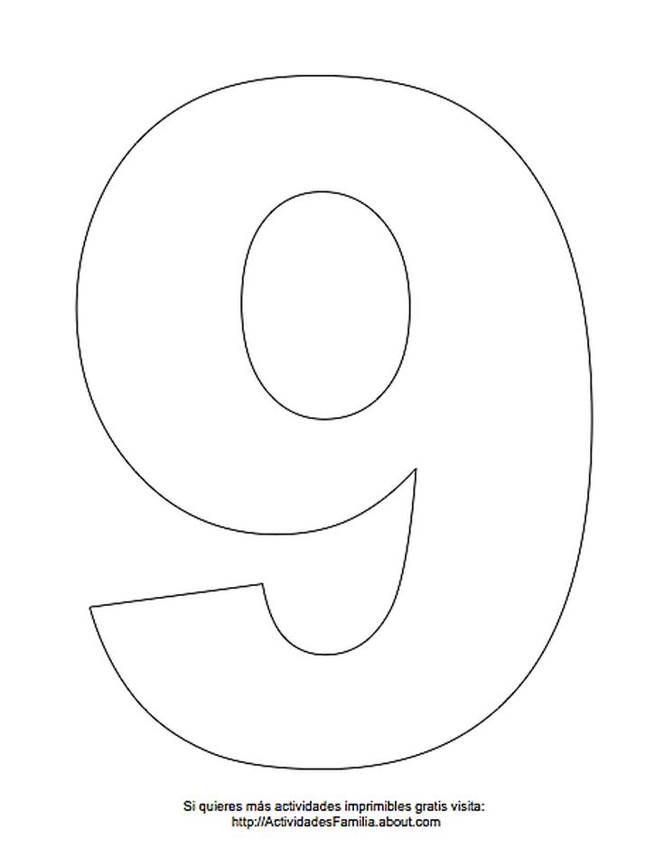Dibujos de números para colorear: Número 9 para colorear | Toy story ...