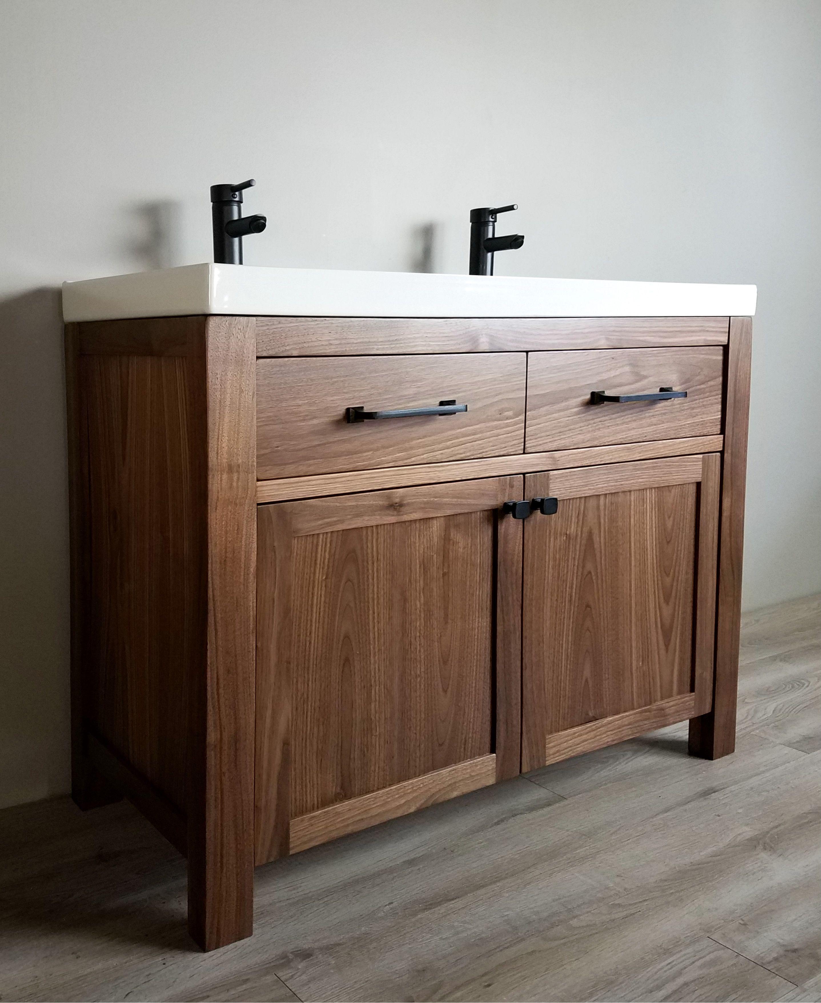Walnut Double Vanity Custom Bathroom Vanity Vanity Wood Bathroom
