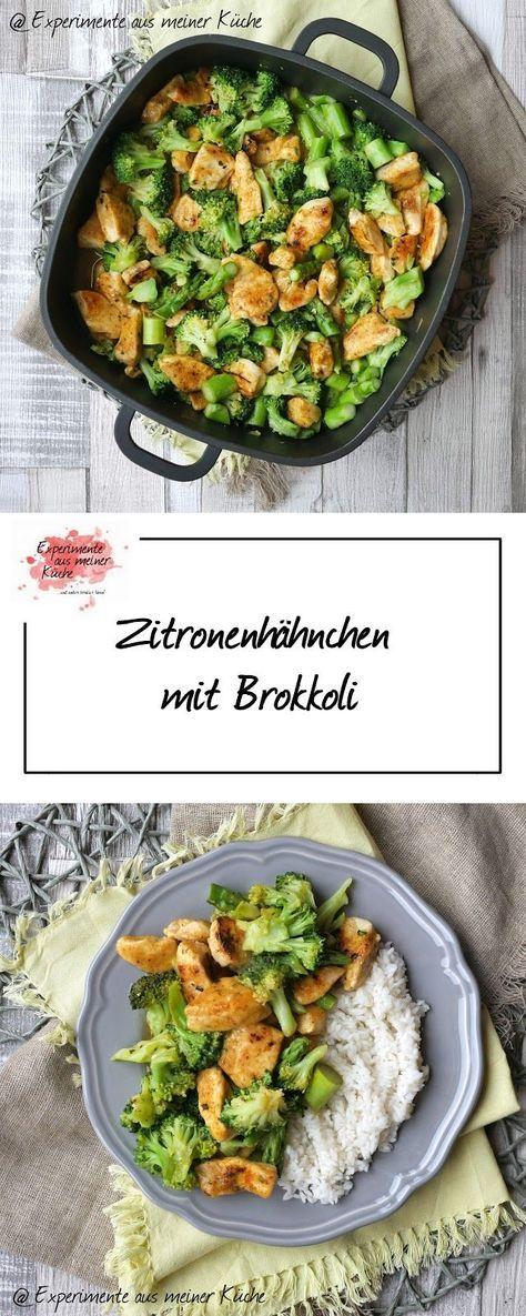 Zitronenhähnchen mit Brokkoli #gezondeten