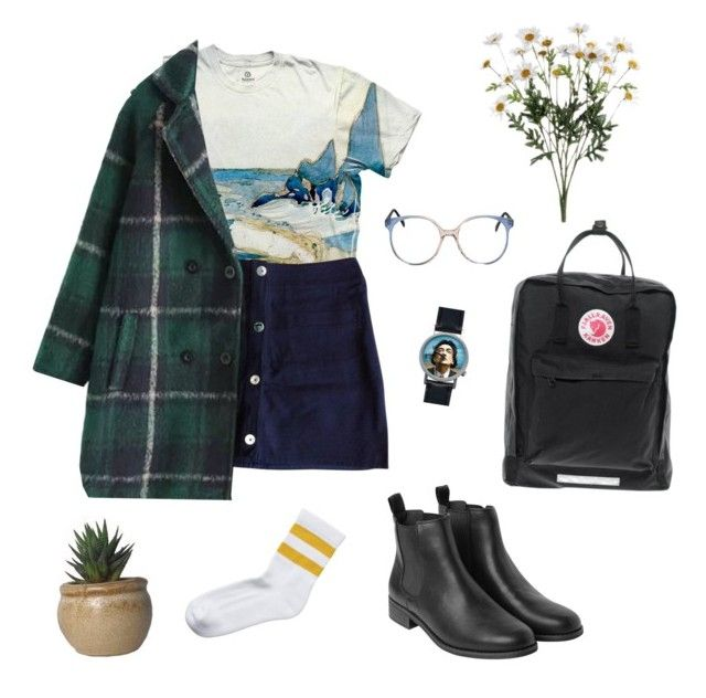 """""""Untitled #124"""" by greerveronica ❤ liked on Polyvore featuring Claudie Pierlot, Monki, Fjällräven, Salvador Dali, women's clothing, women, female, woman, misses and juniors"""