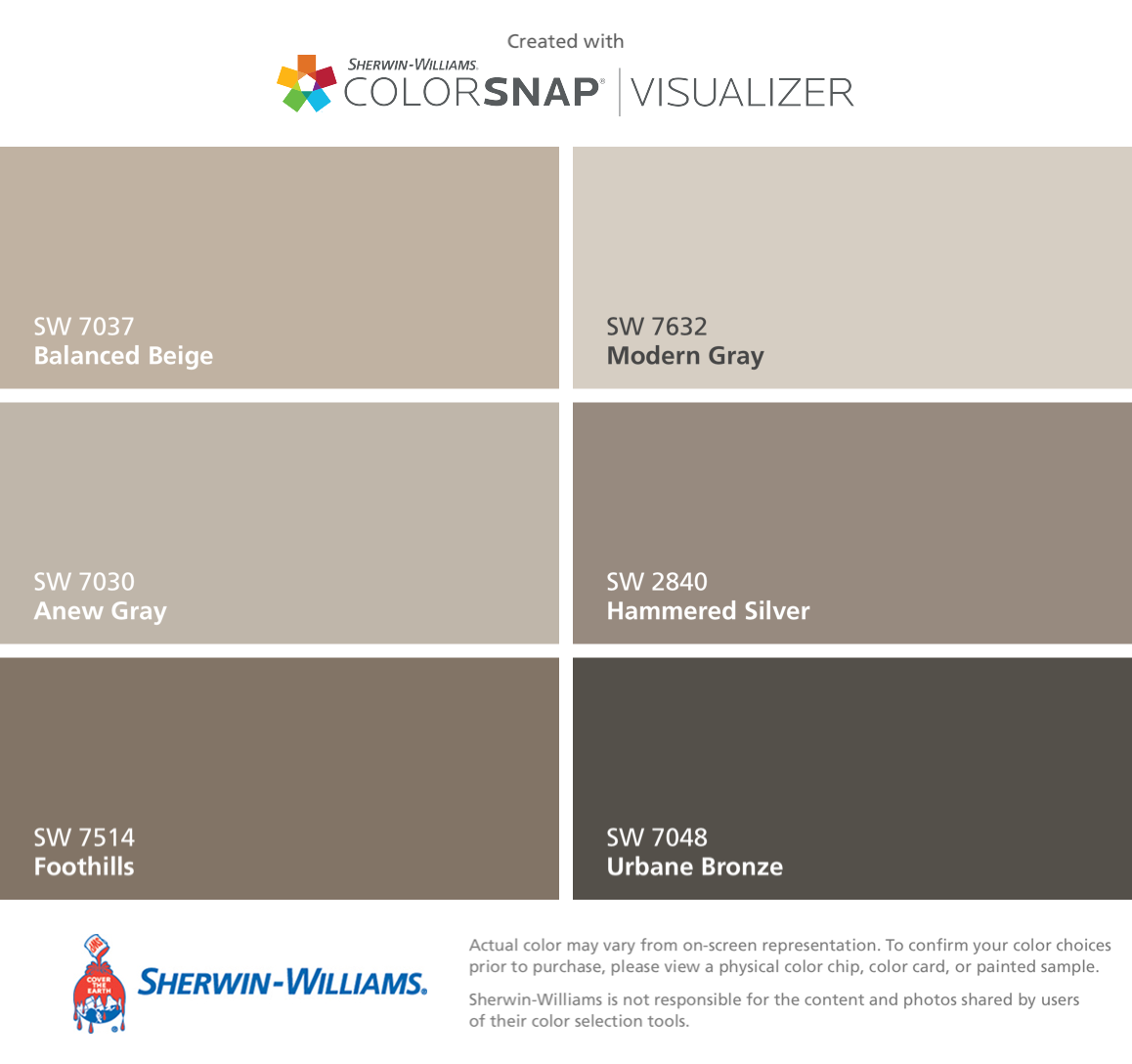 I Found These Colors With ColorSnap® Visualizer For IPhone By Sherwin  Williams: Balanced