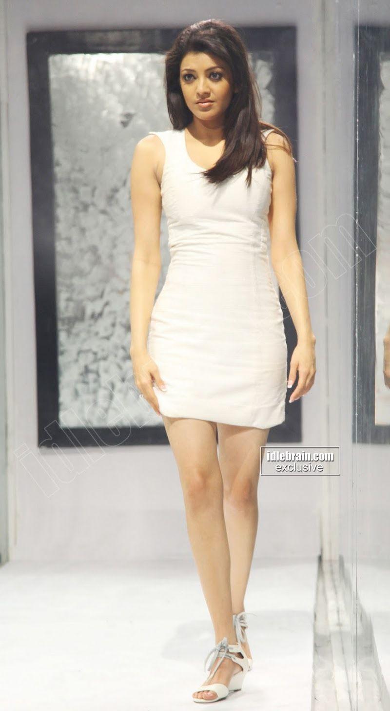 b74d76720745 Kajal Agarwal Hot Pics In White Dress