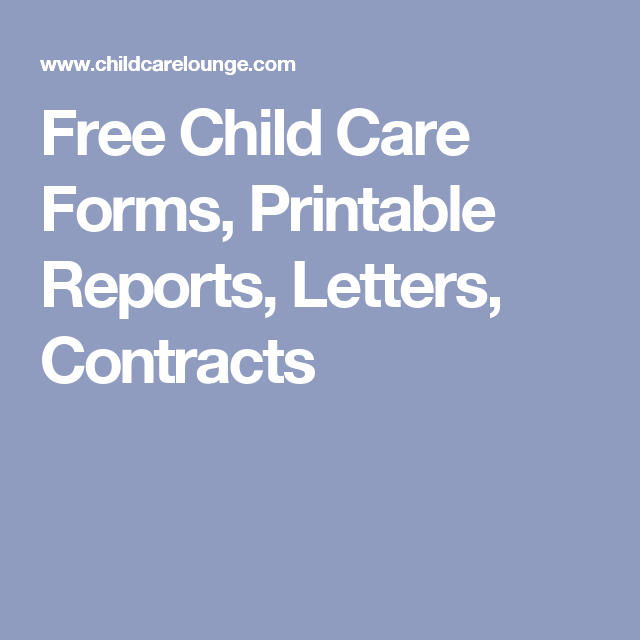 photo about Free Printable Child Care Forms named Absolutely free Kid Treatment Varieties, Printable Research, Letters, Contracts