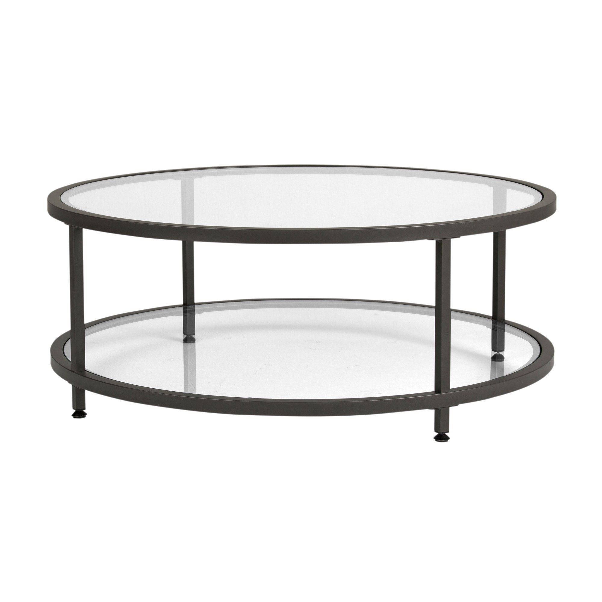 Studio Designs Home Camber 2 Tier Modern 38 Round Coffee Table In Pewter Walmart Com In 2021 Round Glass Coffee Table Coffee Table Coffee Table With Shelf [ 2000 x 2000 Pixel ]