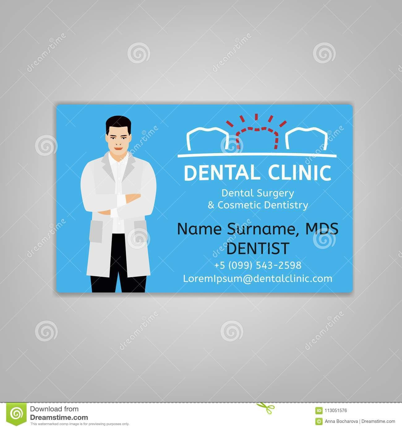 Doctor Id Card Stock Vector Illustration Of Care Dental In Doctor Id Card Template Cumed Org Id Card Template Card Template Name Card Design