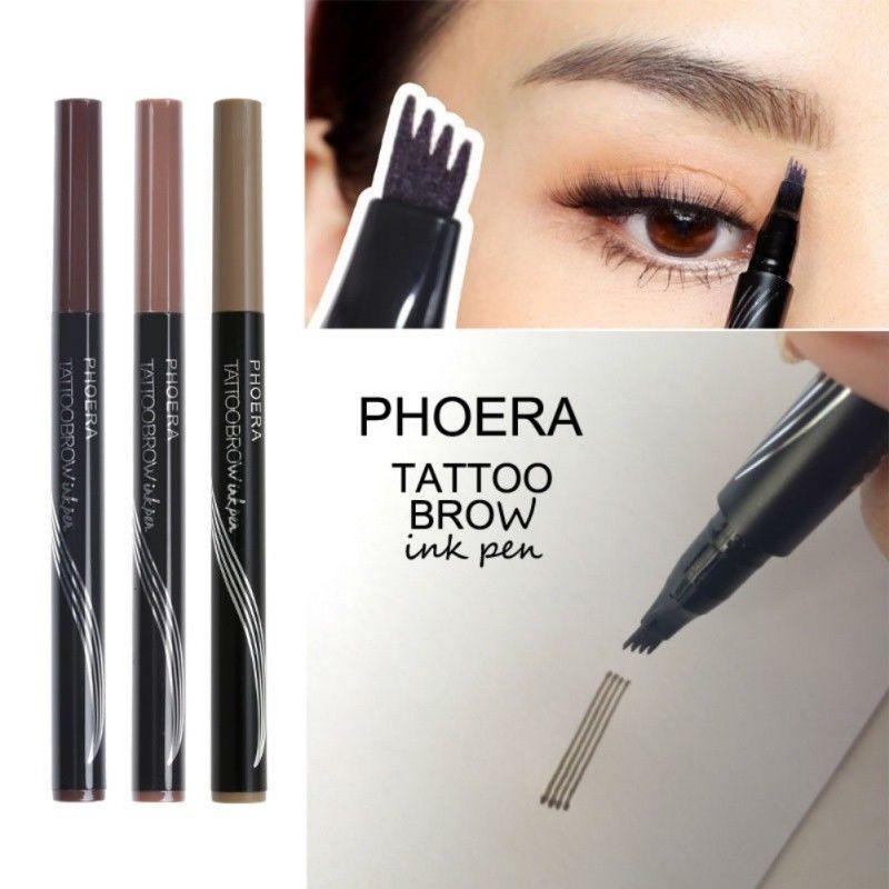 4 Head Microblading Tattoo Eyebrow Pencil Waterproof Fork Tip Ink