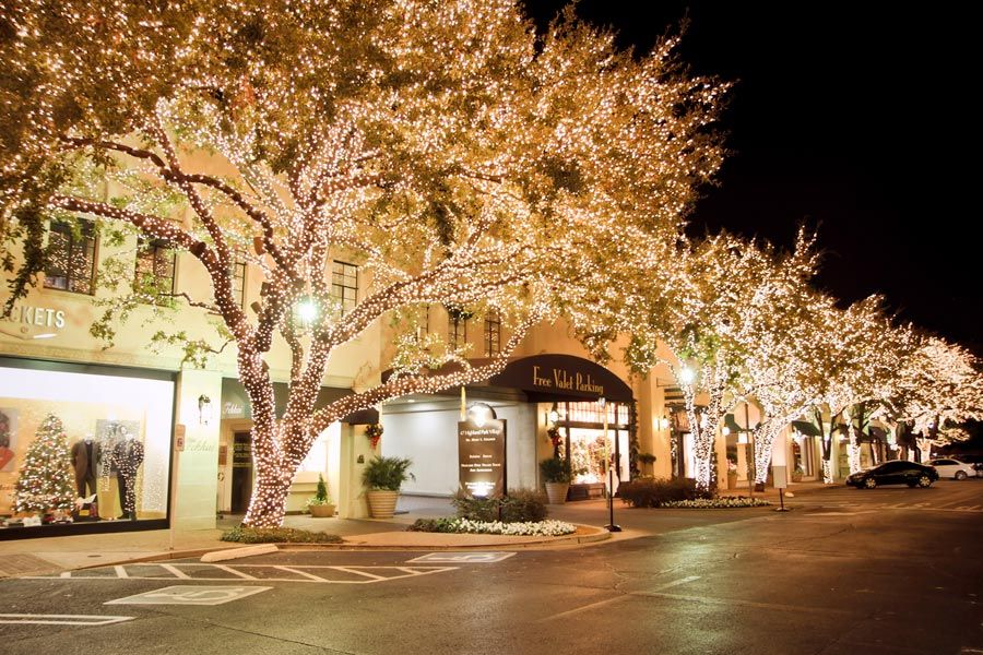 Christmas in Highland Park Village. This is exactly how it