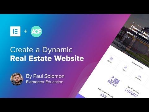 7 Create A Real Estate Wordpress Website Using Acf Elementor Youtube In 2020 Real Estate Website Wordpress Website Web Design Tutorials