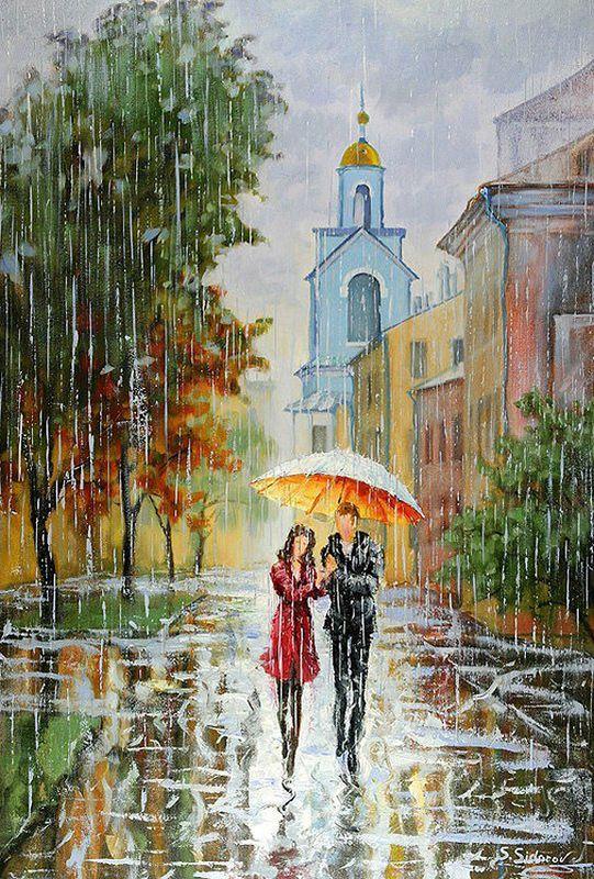 Painting rain. Stanislav Sidorov - Viola.bz