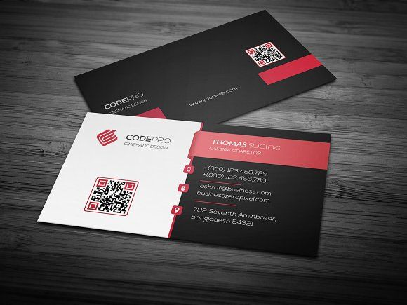 Business Card By Creative Idea On Creativemarket Printable Business Cards Photography Business Cards Template Business Card Template
