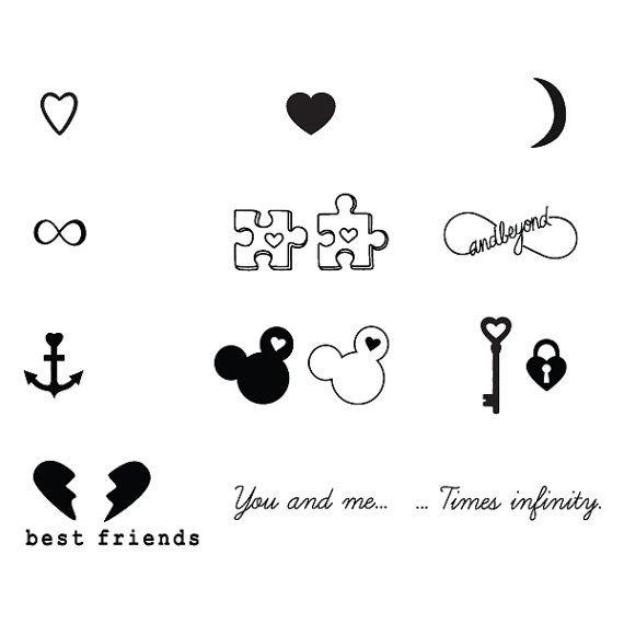 BFFE Temporary Tattoo Pack Set of 32 от Tattify на Etsy