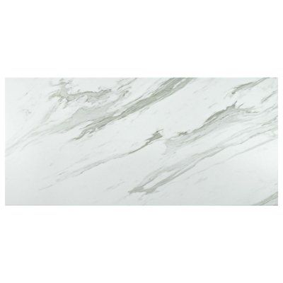"EliteTile Marbre Carrara 13"" x 26"" Porcelain Field Tile 
