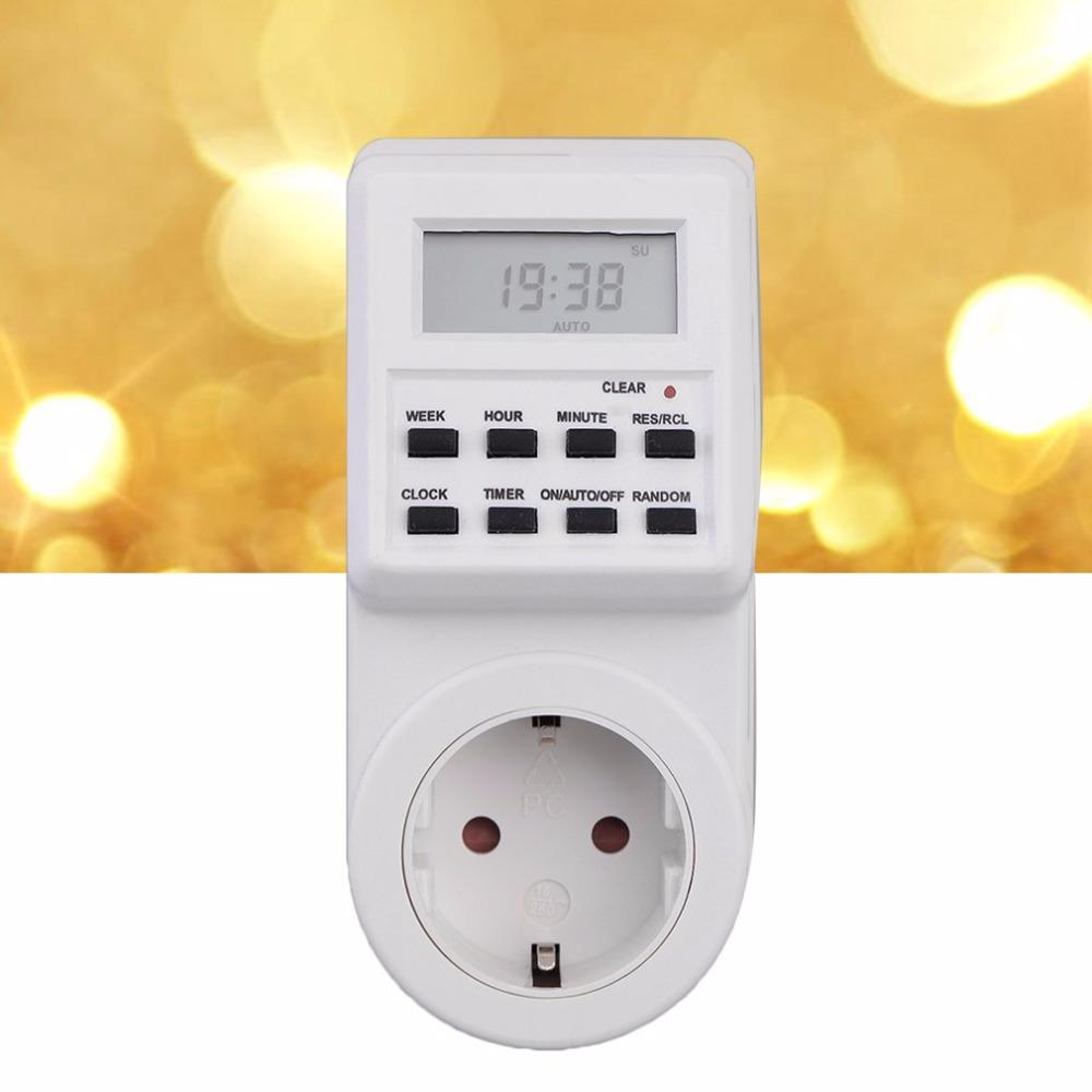 switch socket with clock summer time random function clocks and