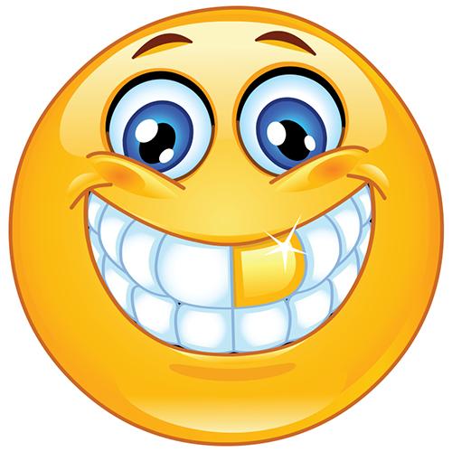 Smiley Mit Zähnen