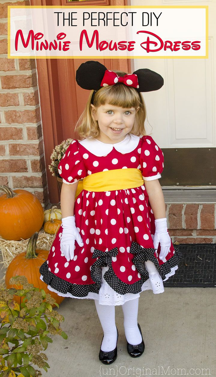 55203cfc2aea The perfect pattern to make a DIY Minnie Mouse Costume for your little  girl. Great for Halloween or a trip to Disney!