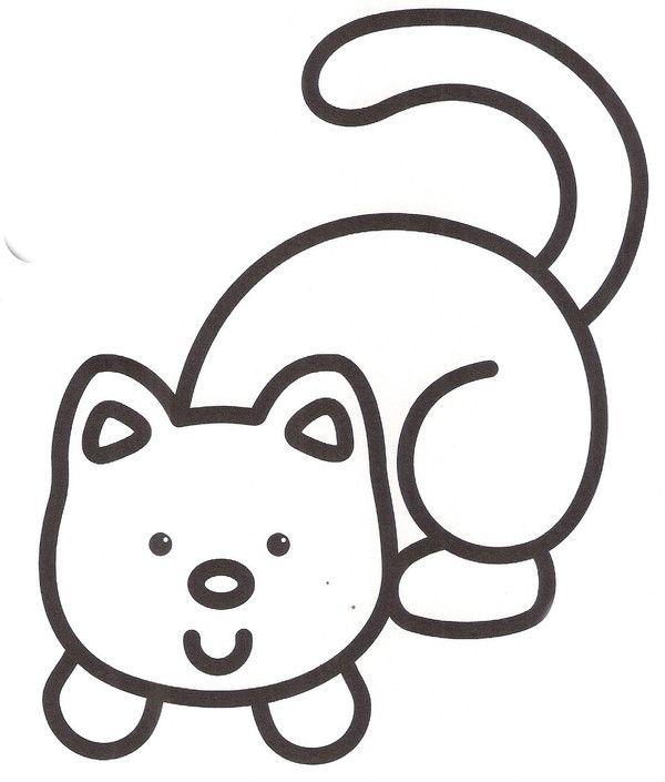 coloriage pour 2 3 ans chat