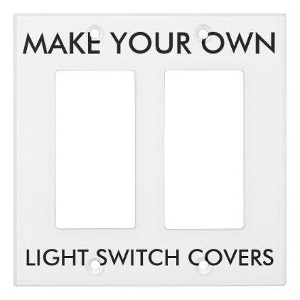 custom double rocker surround light switch cover diy pinterest