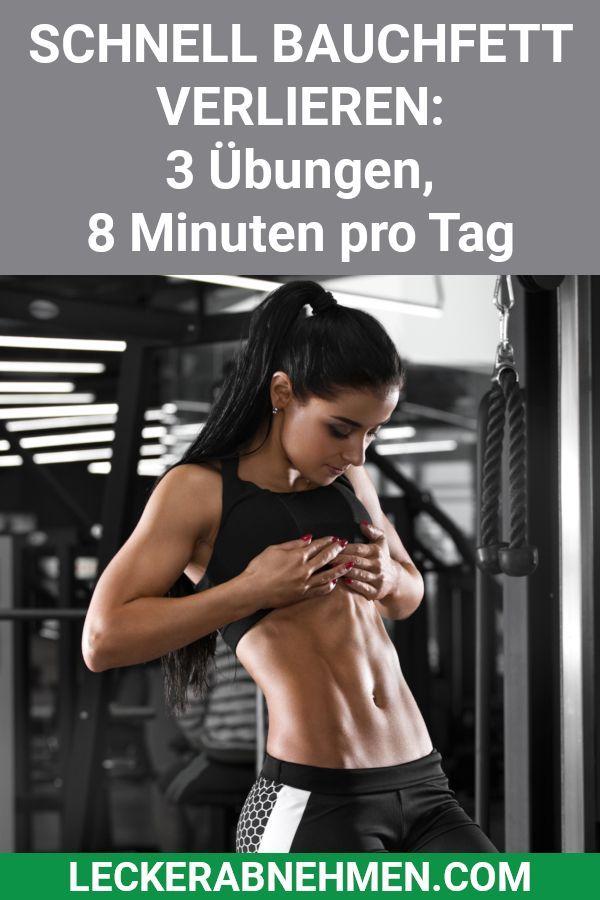 Bauchfett verlieren - 3 Übungen, 8 Minuten pro Tag #fitnesschallenges