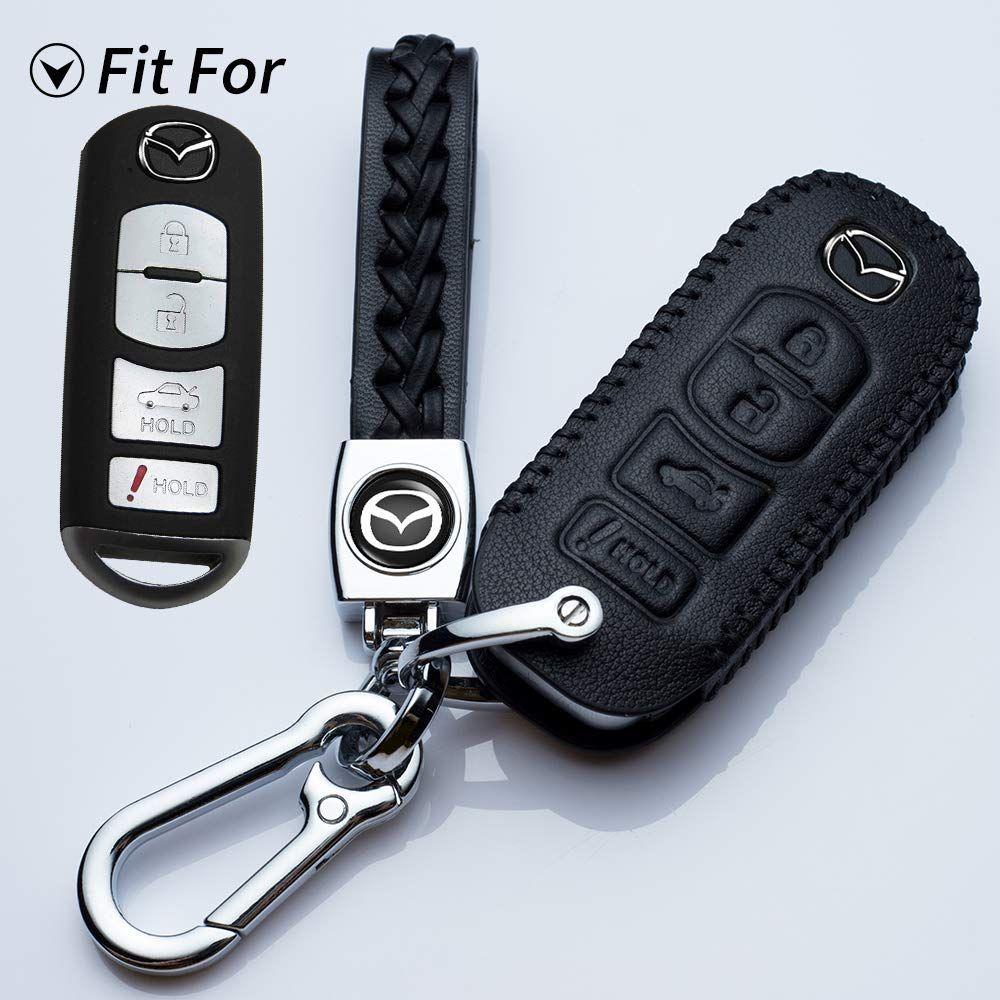 Hey Kaulor For Mazda Key Fob Cover Case Keyless Jacket Holder