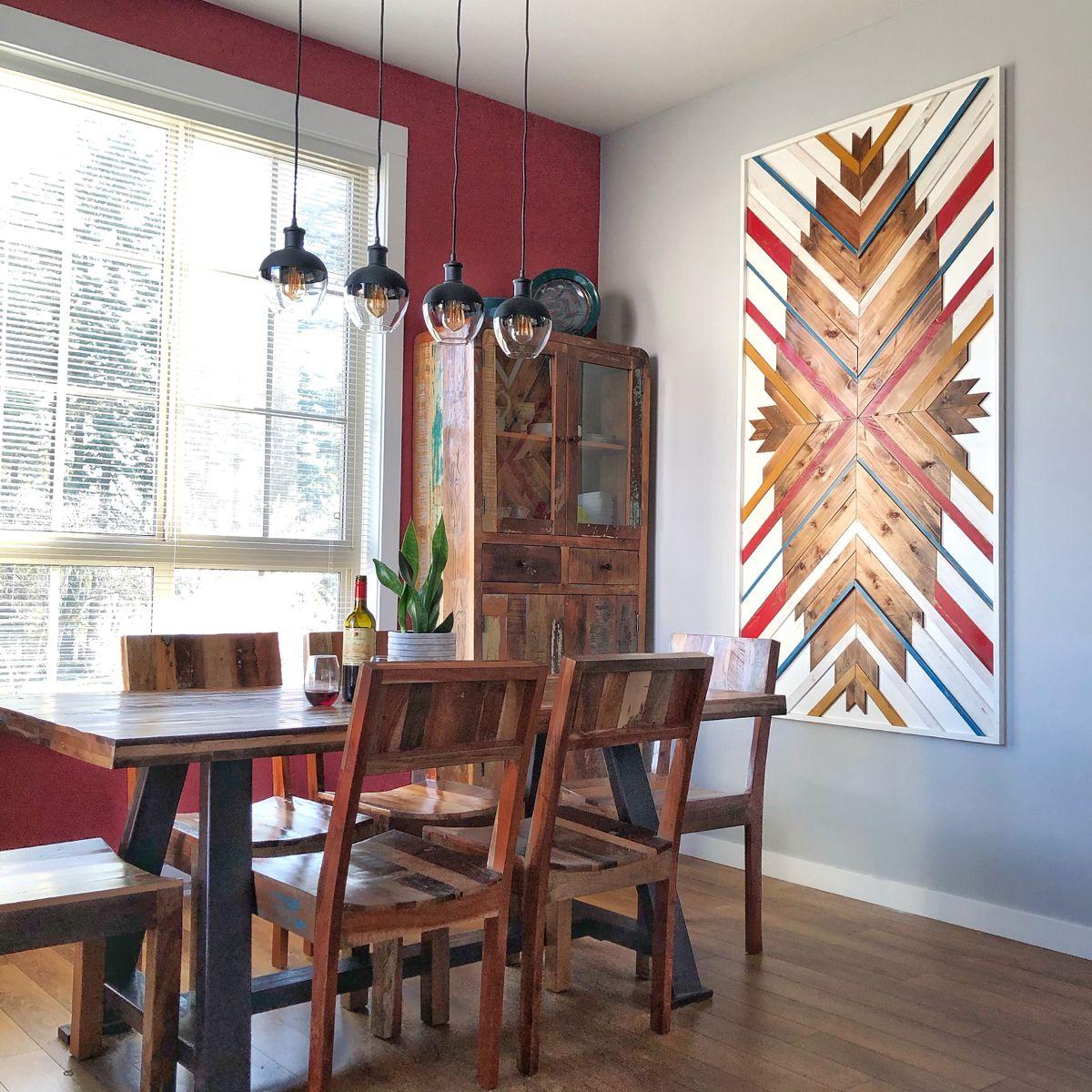 Custom Wood Wall Art Wood Mosaic Wood Wall Art Wall Decor
