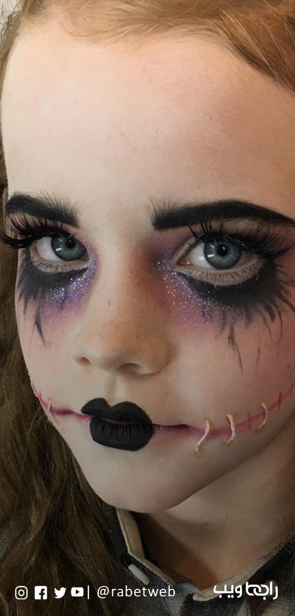 الرسم على الوجه للأطفال بالماكياج Halloween Face Makeup Halloween Face Face Makeup