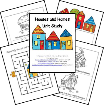 free houses and homes unit lesson plans  houses theme