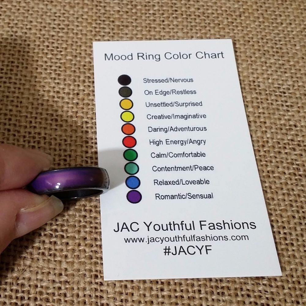 mood ring magnetic hematite band size 6 7 8 9 with mood. Black Bedroom Furniture Sets. Home Design Ideas